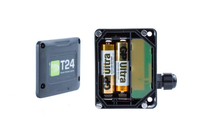 Wireless Sensor Transmitter Enclosure -battery view (T24-ACMi)
